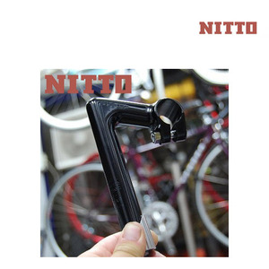 [핸들바/티티바/ROAD바] 니토 ㄱ자 핸들스템 (QUILL STEM)NTC-150 BLACK TECHNOMIC STEM, NITTO COLUMN 22.1X150MM