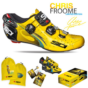 SIDI 자전거신발 로드용 슈즈 기념 한정판 WIRE CARBON FROOME LIMITTED EDITION Yellow